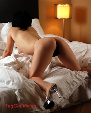korean toronto escort on bed, semi nude